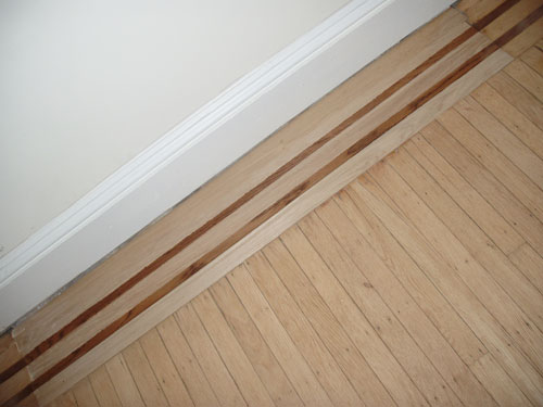 refinished floor edging pattern