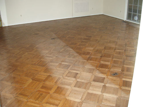 floor surface before